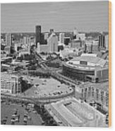 Downtown Skyline Of St. Paul Minnesota Wood Print