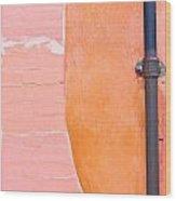 Drainpipe Wood Print