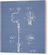 Drill Pounder Patent Drawing From 1922 Wood Print by Aged Pixel