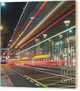 Dublin At Night Wood Print