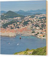 Dubrovnik, Croatia. Overall View Of Old Wood Print
