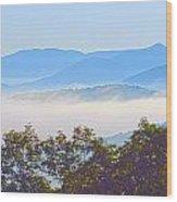 Early Morning On Blue Ridge Parkway Wood Print