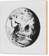 Earth Globe Wood Print