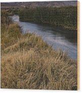 Eastern Sierras And Owens River Wood Print