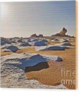 Egytians White Desert Wood Print