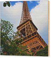 Eiffel Tower Paris France Wood Print