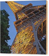 Eiffel Twilight Wood Print
