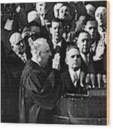 Eisenhower Inauguration Wood Print