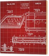 Etch A Sketch Patent 1959 - Red Wood Print