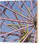Evergreen State Fair Ferris Wheel Wood Print