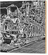 excavator in Ferropolis Wood Print