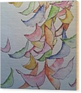 Falling Into Place Wood Print by Sherry Harradence