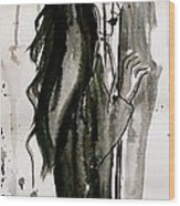 Figure Art Painting Wood Print