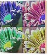 Firmenish Bicolor Pop Art Shades Wood Print
