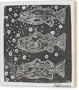 3 Fish Wood Print