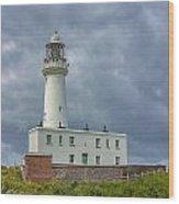 Flamborough Head Lighthouse Wood Print