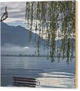 Flooding Lake Wood Print