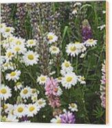 Flower Garden Wood Print by Yvette Pichette