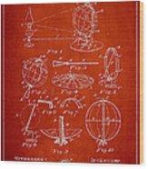 Folding School Globe Patent Drawing From 1887 Wood Print
