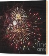 Fourth Of July Fireworks Wood Print