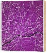 Frankfurt Street Map - Frankfurt Germany Road Map Art On Colored Wood Print