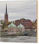 Gamla Stan. Stockholm 2014 Wood Print