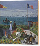 Garden At Sainte-adresse Wood Print
