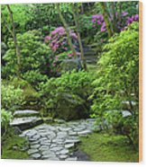 Garden Path Wood Print by Brian Jannsen