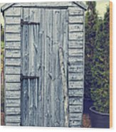 Garden Shed Wood Print