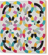 Geometric  Wood Print by Mark Ashkenazi