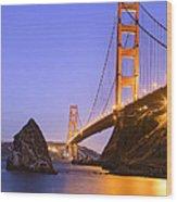 Golden Gate Bridge Wood Print by Emmanuel Panagiotakis