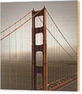 Lovely Golden Gate Bridge Wood Print