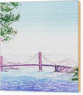 Golden Gate Bridge San Francisco Wood Print by Irina Sztukowski