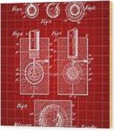 Golf Ball Patent 1902 - Red Wood Print