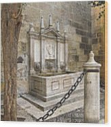 Granada Cathedral Doors And Other Details Wood Print
