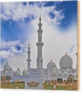 Grand Mosque Wood Print