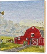 Grandpa's Farm Wood Print