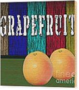 Grapefruit Wood Print