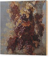 Grapes And Architecture Wood Print