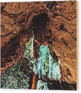 Green Grotto Caves Wood Print