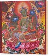 Green Tara 10 Wood Print