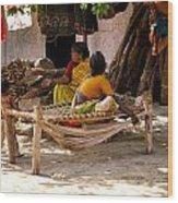 Hampi Bazaar Wood Print