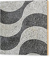 Hand Painted Portuguese Ceramic Tile Wood Print