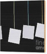 Hanging White Tags Wood Print
