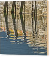 Harbour Reflections Wood Print