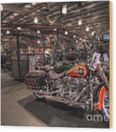 Harley Davidson Wood Print
