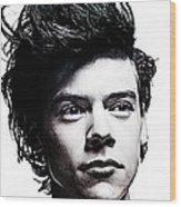 Harry Styles Wood Print by The DigArtisT