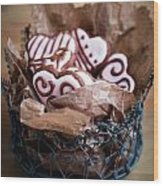 Heart Cookies Wood Print