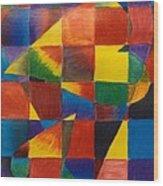 3 Hearts Squared Wood Print
