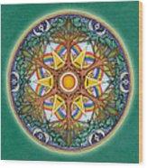 Heaven And Earth Mandala Wood Print